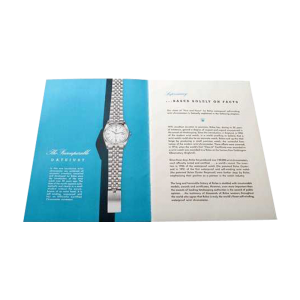 Rolex Blueprint Of Supremacy Booklet Circa 1950