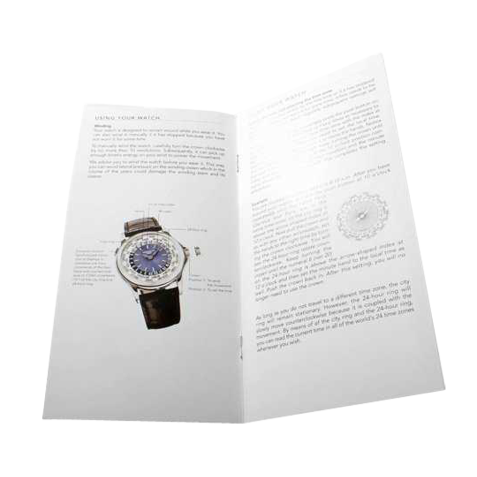 Lot #AN48 Patek Philippe World Time 5110 Owners Manual