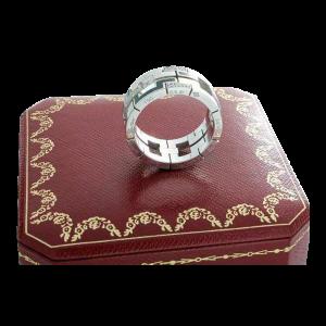 18k White Gold and Diamonds Cartier Baiser Dragon Ring