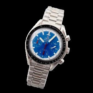 Stainless Steel Omega Speedmaster Blue Schumacher Watch