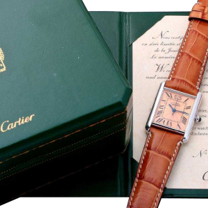 Rare Limited Edition Sterling Silver Cartier Tank