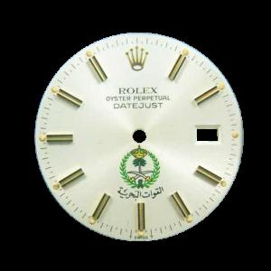 Rare Rolex Datejust Saudi Royal Naval Forces Crest Logo