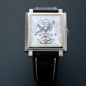 Milus Herios TriRetrograde White Gold Watch HERT301 - Baer & Bosch Auctioneers