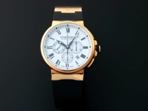 Ulysee Nardin Marine Chronograph Rose Gold Watch 1506-150LE-3 - Baer & Bosch Auctioneers