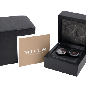 Milus Watch Rotor Cuff Links Black PVD - Baer & Bosch Auctioneers