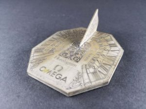 Omega Horologium Sundial Desk Display - Baer Bosch Auctioneers