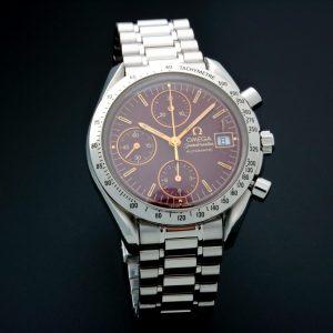 Omega Speedmaster Date Watch Oxblood Dial 3511.61 - Baer & Bosch Auctioneers