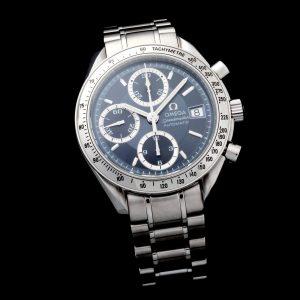 Omega Speedmaster Date Indigo Grey Watch 3513.46 - Baer & Bosch Auctioneers