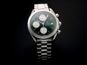 Omega Speedmaster Date Green Jade Watch 3511.70 - Baer & Bosch Auctioneers