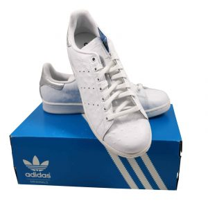 Adidas-Stan-Smith-Ostrich-Leather-White-Silver-S80342-Size-10