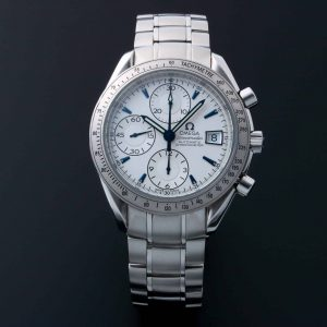 Omega Speedmaster Chronograph 3211.32 Limited Japanese Edition Blue Arrowhead Markers - Baer & Bosch Auctioneers