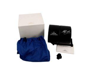Omega Speedmaster Michael Schumacher Blue Tire Watch Box - Baer Bosch Auctioneers