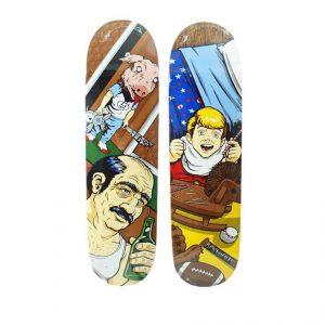 Sean Cliver x Supreme Skateboard Skate Date Set Sugar Rush & Motel Hell - Baer & Bosch Auctioneers