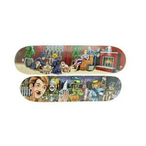 Sean Cliver x Supreme Skateboard Skate Deck Set Ritual & Halloween - Baer & Bosch Auctioneers
