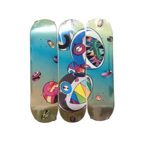 Takashi Murakami x ComplexCon Discord Skateboard Skate Deck Triptych Set - Baer & Bosch Auctioneers