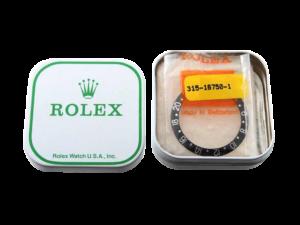 Rolex Gmt 16750 NOS Bezel Insert with Rolex Tin Box
