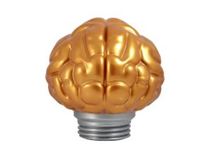 Bait Brain Lamp Gold
