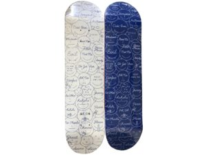 Lot #AN4164 – Ceizer x Colette Mixed Emotions Skateboard Skate Deck Set