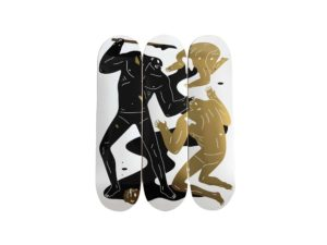 Cleon Peterson The Crawler Skateboard Skate Deck Triptych Set - Baer & Bosch Auctioneers