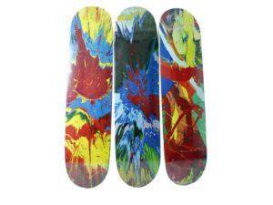 Damien Hirst x Supreme Spin Skateboard Skate Deck Set - Baer & Bosch Auctioneers