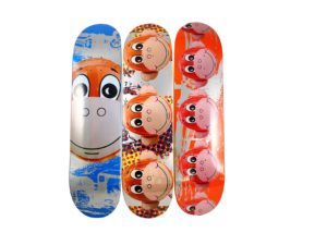 Jeff Koons x Supreme Monkey Train Skateboard Deck Set - Baer & Bosch Auctioneers