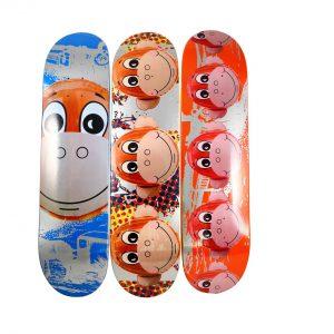 Jeff Koons x Supreme Monkey Train Skateboard Deck Set - Baer & Bosch Auctioneers