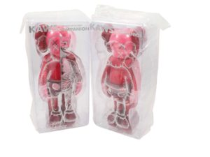 KAWS Companion Flayed and Open Vinyl Figure Blush Set - Baer & Bosch Auctioneers