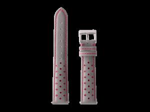 Lot #ANPR1.04 – Tokki Project Nubuck Racing in Grey & Red Watch Strap
