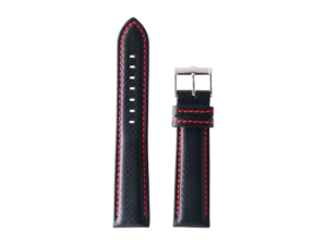 Lot #ANPR14.01 – Tokki Project Samo in Cross Hatch Black / Venetian Red Watch Strap