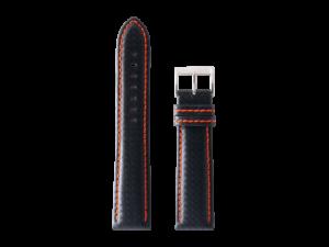 Lot #ANPR14.02 – Tokki Project Samo in Cross Hatch Black / Salamander Orange Watch Strap