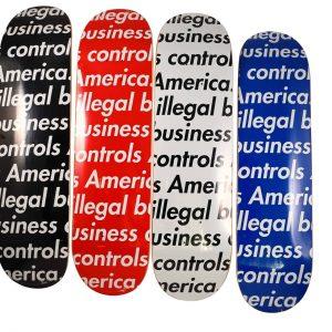 Supreme Illegal Business Controls America Skateboard Deck Set - Baer & Bosch Auctioneers