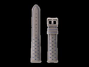 Lot #ANPR1.01 – Tokki Project Nubuck Racing in Grey & Blue Watch Strap