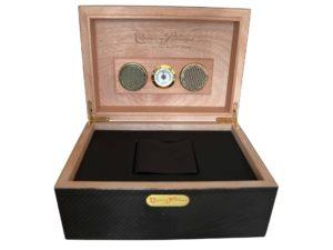 Cuervo Y Sobrinos Carbon Fiber Humidor Watch Box