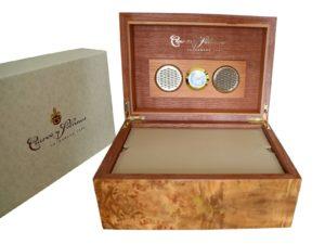Cuervo Y Sobrinos Wood Humidor Watch Box
