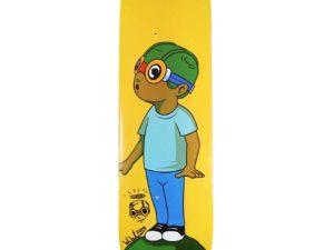 Hebru Brantley X Bait Fly Boy Skateboard Skate Deck Signed Scaled