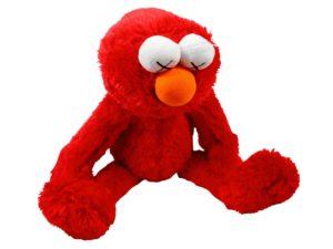 Kaws X Uniqlo Sesame Street Elmo Red Scaled