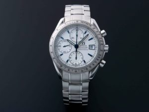 Omega Speedmaster Date White Blue Arrowhead Markers Limited Japanese Edition 3211.32