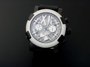 Romain Jerome Titanic Dna Chronograph Skeleton Pvd Diamonds