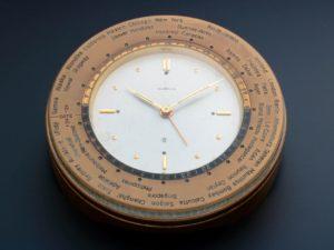 3141 Gubelin World Time Alarm Desk Clock
