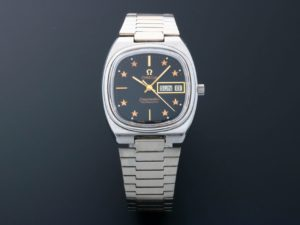 3803 Omega Seamaster Day Date Star Dial Watch 166.0213