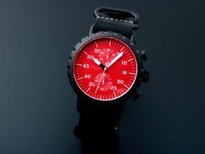 Peregrine Chronograph Psa Ch Dlc 1e Blk C Red D