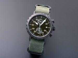 Peregrine Squadron Chronograph Blk C Grn